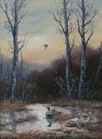 """Kovrig Miklós """"Kora tavasz"""" című olajfestménye igényes keretben, ingyen postázom"""