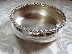 Régi ezüstözött asztali palacktartó