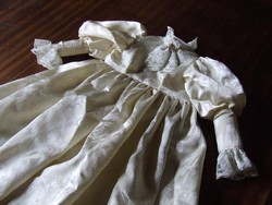Porcelán baba ruha -egyedileg varratott- antik babára