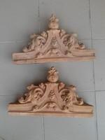Kerámia dekorációs elem cserépkályha ajtódísz