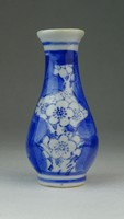 0P323 Kisméretű kék-fehér keleti porcelán váza