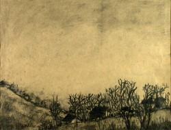 Magyar festő, XX. század : Őszi táj