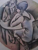 MCP NEW YORK KÁVÉHÁZ ÉTTEREM BUDAPEST ÉTLAP 1929 MOLNÁR C. PÁL LITOGRÁFIA MARGITSZIGET