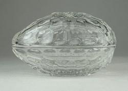 0P548 Tojás alakú üveg ékszertartó bonbonier