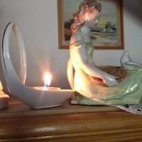 Hamupipőke - kézzel festett Drasche figura - régiség