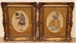 Antik Gobelinek párban gyönyörű eredeti keretével eredeti garanciával !!!!