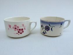 Régi vintage Gránit virágos csésze 2 db
