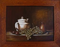 Moona - Csendélet szőlővel kancsóval CHARDIN festényének MESTERMÁSOLATA