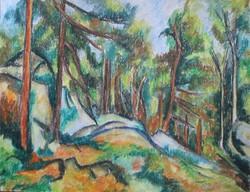 Moona - Fenyőerdőben CEZANNE festményének mestermásolata
