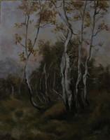 Nóth Inga - Nyírfás K SPÁNYI BÉLA festményének mestermásolata