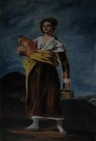 Moona - Korsós lány GOYA festményének MESTERMÁSOLATA