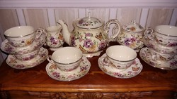 Zsolnay 6 személyes pillangós teás készlet