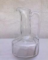 Szép üveg karaffa 24 cm magas