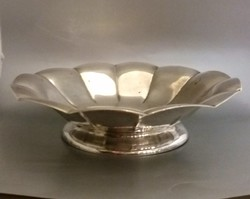 KARÁCSONYFA ALÁ ÉRTÉKÁLLÓ, GYÖNYÖRŰ AJÁNDÉK!!! Nagy ezüst asztalközép