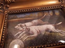 Olaj karton festmény jelzett