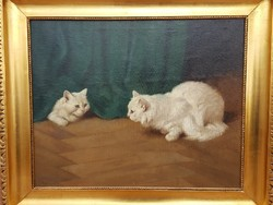 Heyer Artúr / Játszadozó cicák
