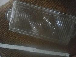 Retró üvegtálca-zserbó tálca, üveg kínáló