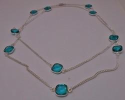 Gyönyörű hosszú kék köves nyaklánc