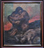 Igazi kuriózum! Mihalovits Miklós (1888 - 1960): Káin és Ábel