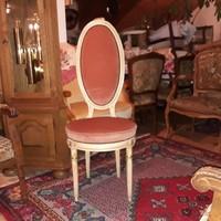 Antik empier törtfehér női szék