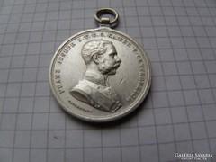 Franz Joseph Brawery medal,1880 ezüst gyönyörű! R! leáraz(6)