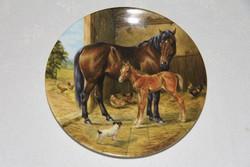 Royal Worcester lovas dísztányér 1.