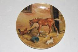 Royal Worcester lovas dísztányér 2.