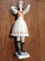 Hollóház porcelán figura ,kézzel festett