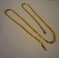 Gold filled csavart nyaklánc