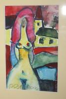 Németh Miklós 3 erotikus témájú akvarellje egyben