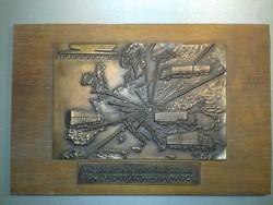 Retro HUNGAROCAMION bronz plakett teljes