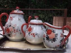 Antik keleti kávézószett 3 részes db-ra ! kézi festéssel-20-as évekből