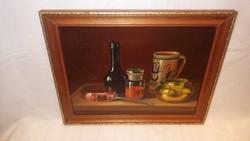 Wéberné olaj - farost konyhai , asztali csendélet festmény JÓ DARAB