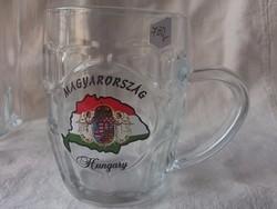 Új Árpád sávos magyar címeres sörös krigli-korsó-ajándékba is