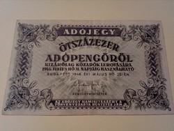 1946-os 500000 Adópengő EF+