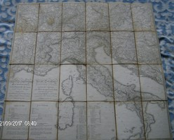 Antik katonai postai térkép 1820.