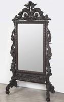 Barokk stílusú faragott álló tükör