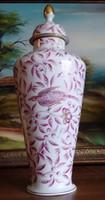 31 cm HERENDI ZOO dekorú urnaváza 1950-60-as évekből (ZOVA)