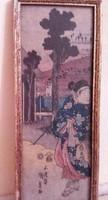 Eredeti Japán Gésa festmény