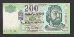 "200 forint 1998. ""FF""  UNC !  RITKA!"