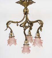 Francia aranyozott bronz csillár