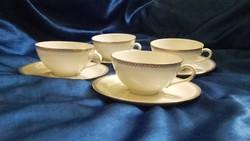 Royal Ivory 4 személyes porcelán teáskészlet hibátlan, hiánytalan készlet