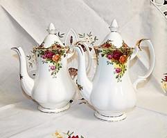 Royal Albert Old Country Roses közepes méretű kávéskanna.
