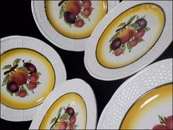 Riolit antik fajansz gyümölcsös tányér szett
