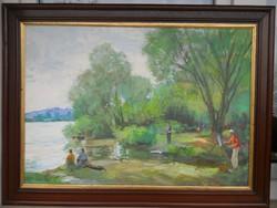 Kisgyörgy Miklós Dunapart című festménye