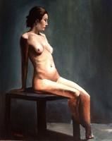 Műtermi akt - Eredeti KINVA festmény