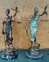 Justitia, az igazság Istennője - bronz szobor