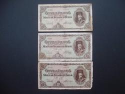 3 darab 50 pengő 1945 egyben