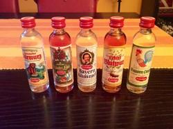 5 db-os mini ital mini üveg gyűjtemény makulátlan állapotban