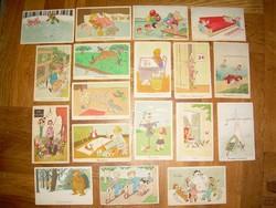 Retró humor karikatúra képeslapok